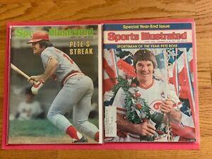 Vintage Pete Rose Sports Illustrated. 10/7/1978.    12/23/1975.