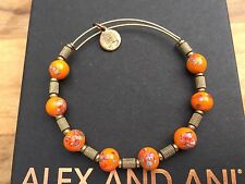 ALEX and ANI ASSORTED VINTAGE Porcelain Flower SINGLES Beaded GOLD Tigris BANGLE