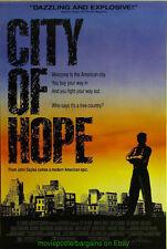 CITY OF HOPE MOVIE POSTER Original SS 27x40 Blue Style 1991 JOHN SAYLES