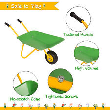Kids Metal Wheelbarrow Play Toy Set Sand Pit Tools Beach Yard Outdoor Garden