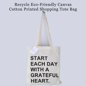 Recycle Eco-friendly Canvas Cotton Printed Shopping Tote Bag