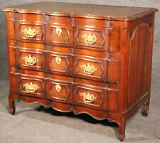 Late 1800s Era French Louis XV Carved Walnut and Bronze Ormolu Dresser Commode