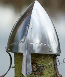 Halloween Replica Norman Viking Nasal Helmet Medieval Reenactment Costume Armor