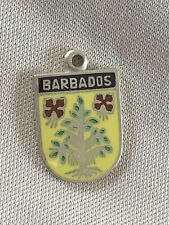 BARBADOS Silver Travel Shield Enamel Charm