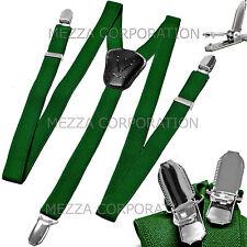 New Kid's Boy's girl's Vesuvio Napoli Suspenders Braces clip on Emerald Green