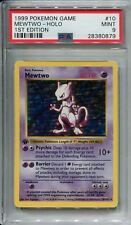 Pokemon Base Set 1st Edition Shadowless Card #10 Mewtwo PSA 9