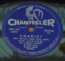 """JOE SENTIERI 1962 Chariot/Uno Dei Tanti RARE! Ex 10"""" 78 RPM BRAZIL Brasile"""
