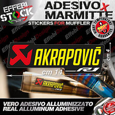 Adesivo / Sticker AKRAPOVIC R1 2017 YEC EXAUST 200°gradi H.QUALITY !