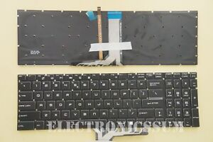 New For MSI MS-1771 MS-1772 MS-1773 MS-1775 US Keyboard Colorful Backlit Crystal