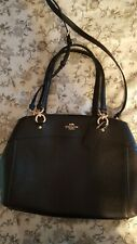 COACH F25926 Leather Brooke Large Satchel Handbag Shoulder Purse in Black NWT
