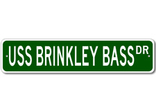 USS BRINKLEY BASS DD 887 Ship Navy Sailor Metal Street Sign - Aluminum