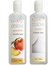 Oralove Dynamic Duo Peaches & Cream Oral Sex Lickable Lubes
