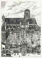 PARIS L 'Eglise Saint Gervais Lithographie de 1910 John Jack vrieslander