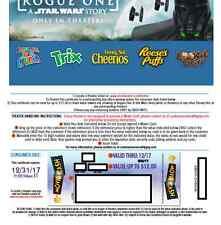 Five Movie Tickets {(codes) good in 2017 -good for Disney/Marvel/Star Wars films