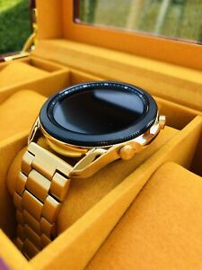 CUSTOM 24K Gold Plated 45mm Samsung Galaxy 3 Gold Link Band - Bluetooth
