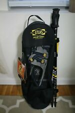 🔴 Atlas 925 Men's Snowshoes with Telescoping Poles & Tote Bag Kit 9 Series NEW