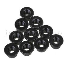 10P M8 Black Zinc Plated Carbon Steel Hexagonal Flange Lock Nut Insert Lock Nuts