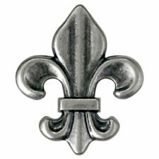 "2470SB-M15 1 1/2"" Antique Nickel Fleur De Lis Screw Back Concho"
