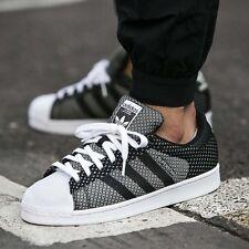Adidas Originals Superstar Weave Pack Black/White S77853 Men's Shoes Size 12