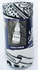 Modelo Especial Cerveza Beer Fleece Throw Blanket, Black & White