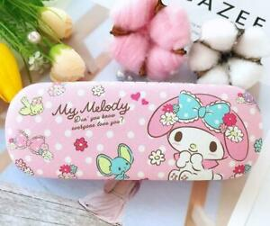 Cute My Melody Hard Shell Glasses Eyeglass Case Box PU Leather Protector Cover