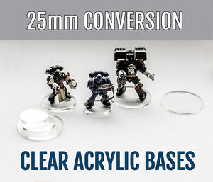 20x 25mm Acrylic Bases for Age of Sigmar, Warhammer, WFB, WH40K