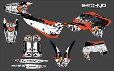KIT ADESIVI GRAFICHE BLACK GAMBLING KTM EXC-F 250 450 2008 2009 2010 2011 DECALS