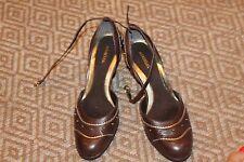 "women's sz 11 Aerosoles "" Romeo"" brown leather heels"