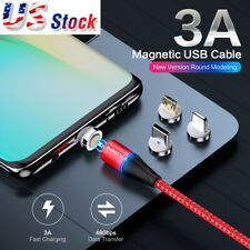 Micro USB Typle C Magnetic Fast Charging Lighting Data Transfer Braided Cable US