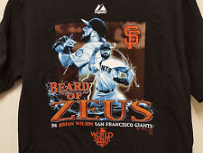 MLB Baseball SF San Francisco Giants Brian Wilson #38 Beard of Zeus - T Shirt M
