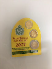 MONETE SAN MARINO 10 + 20 CENT. + 2 EURO 2007 NEL BLISTER