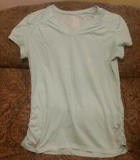 Danskin Now T Shirt Top Women's Size L Mint Green Short Sleeve