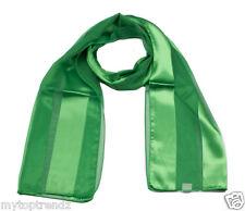 Ladies Plain Scarf  Shiny Satin Chiffon Striped Women Long Fashion Scarves Wrap