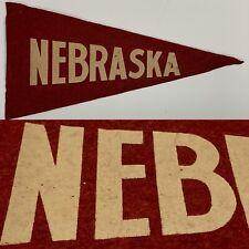 Vintage Nebraska Cornhuskers University  Mini Pennant 5.5x11.5