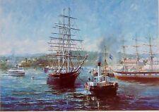 John Eighteen, Cutty Sark leaving Brisbane Harbour, Last Departure, Fully Framed