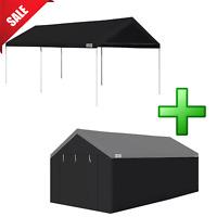 Caravan Canopy Carport Garage Portable Shelter 10x20' Sidewall Car Port Tent
