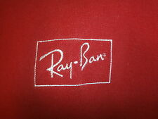 RAY BAN SUNGLASSES POLO SHIRT Retro Red Sewn Classic Logo Aviator Wayfarer XL