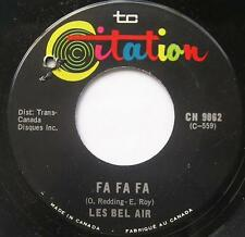 **LES BEL-AIR Fa fa fa FRENCH SOUL Canada QUEBEC 1968 Groupe 45 Vinyl