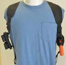 """Shoulder Holster for Snub Nosed (2"""") Revolvers with Speedloader Pouches"""