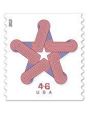 2013 46c Patriotic Star, Red, White & Blue, Coil Scott 4749 Mint F/VF NH