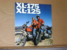 1976 Honda XL175 XL125 Motorcycle Sales Brochure - Literature
