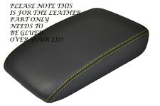 YELLOW STITCH FITS VW GOLF MK5 MK6 ANTHRACITE DARK GREY LEATHER ARMREST COVER