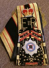 THE IRISH GUARDS Drum Major Sash  100% Hand Embroidered