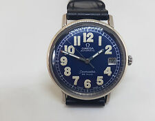 RARE USED VINTAGE 60'S OMEGA DE VILLE BLUE DIAL DATE  AUTOMATIC MAN'S WATCH
