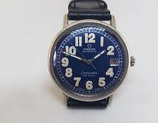 Raro Vintage Usado años 60 Omega De Ville ESFERA AZUL FECHA Reloj de hombre automático