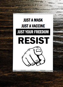 JUST A MASK JUST A VACCINE Sticker Packs (25-1000) - VACCINATION FREEDOM RESIST