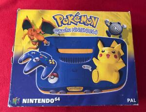 Console Nintendo 64 Pikachu en boite
