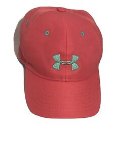 Under Armour Youth Hat Coral With Gray Logo