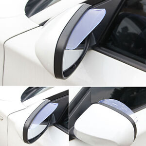 2x Car Rear View Mirror Eyebrow Cover Rain-proof Snow Protection Side Shield