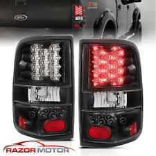 2004 2005 2006 2007 2008 Ford F-150 Pickup Black LED Rear Brake Tail Lights Pair